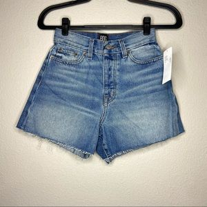 NWT UO BDG Raw Hem Jean Denim Shorts 25